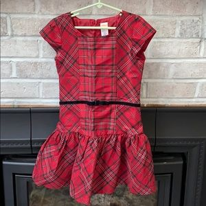 Gymboree Red Plaid Party Dress -Girls 8